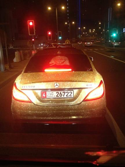 golden mercedes