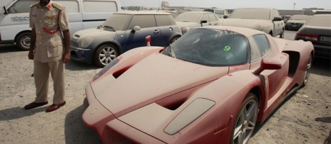 Abandoned Luxury Cars Under the Dust-Dubai
